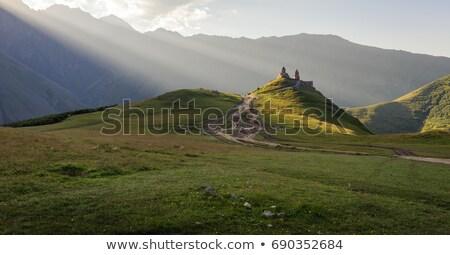panoráma · Kaukázus · hegyek · kilátás · sípálya · tájkép - stock fotó © kotenko