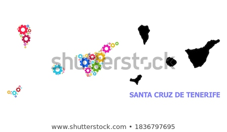 Map of Tenerife Stock photo © rbiedermann