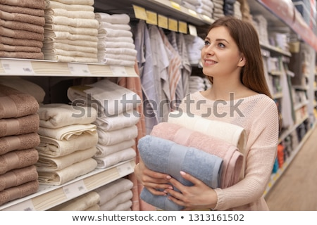 Stock photo: towels in shop