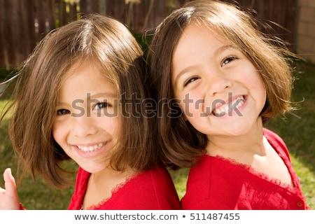 gêmeo · meninas · amor · mulheres · moda · beleza - foto stock © Paha_L