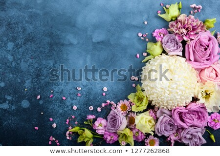 Liefde tekst roze Blauw abstract collage Stockfoto © x7vector