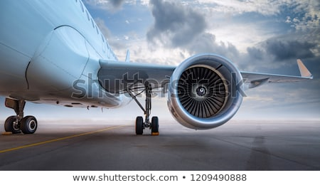 pista · aviao · voar · aeroporto · sunset - foto stock © vlad_star