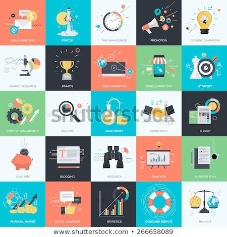 Statistisch ontwerp stijl kosten inkomen statistiek Stockfoto © robuart