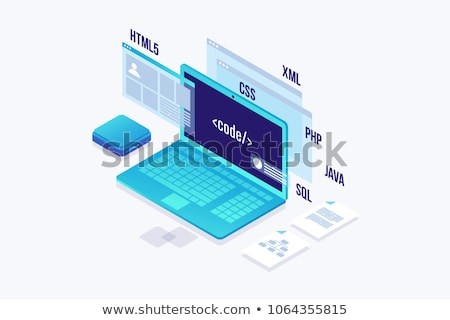 Web Development Concept on Laptop Screen. Stock photo © tashatuvango