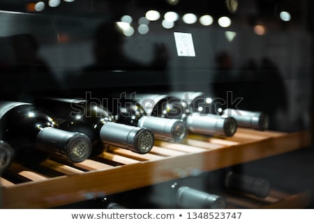 Transparent wine storage shelves Stock photo © jrstock