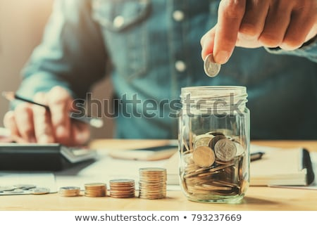 saving money concept with stacked coins stock photo © andreasberheide