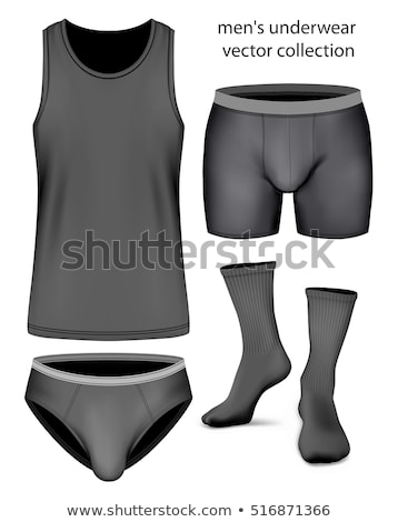 men in briefs and singlet Stock photo © maximmmmum