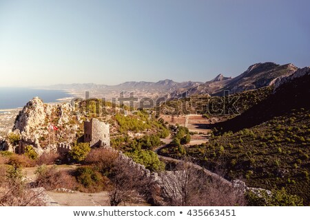 The Lower Ward of St. Hilarion Castle as seen from the castle it Stock photo © Kirill_M