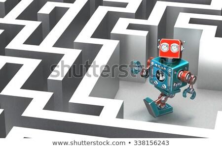 robot · puzzel · succes · geïsoleerd · witte · metaal - stockfoto © kirill_m