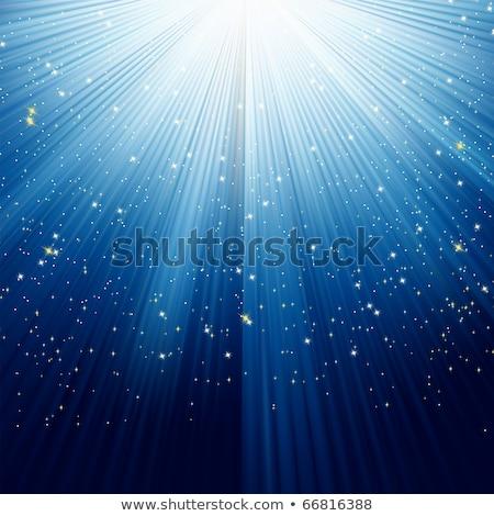 flocons · de · neige · chemin · or · lumière · eps · étoiles - photo stock © beholdereye
