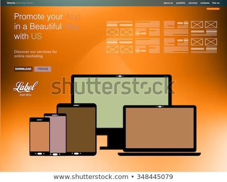 One Page Clear Modern Website template for an App showcase  Stock photo © DavidArts