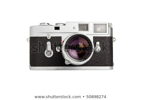 Retro camera gestileerde fotografie foto's film Stockfoto © tracer