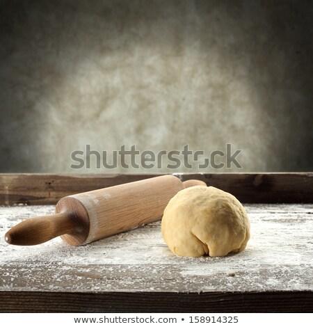古い ビッグ 麺棒 孤立した 白 ケーキ ストックフォト © ajt
