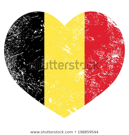 Belgium Flag Heart. Belgian flag icon in shape of heart Stock photo © orensila