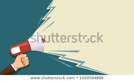 A man holding a megaphone - Freedom of speech Stock photo © Zerbor
