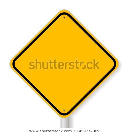 szett · fő- · út · jelzőtábla · izolált · fehér - stock fotó © boroda
