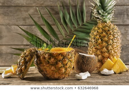 exotic cocktail in the ananas Stock photo © adrenalina