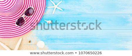 praia · óculos · de · sol · mulher · sol · sensual - foto stock © maridav