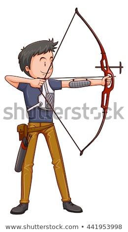 Man ahtlete doing archery  Stock photo © bluering