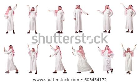Arab man pressing virtual buttons in futuristic concept Stock photo © Elnur