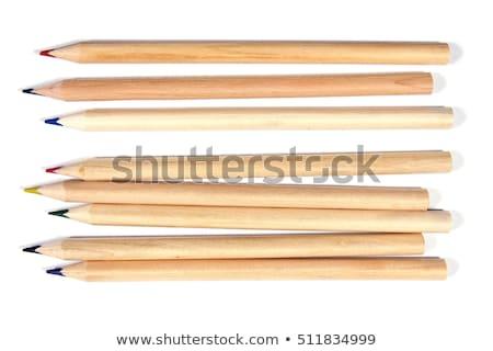 Naturalismo madeira lápis giz de cera Foto stock © ozgur