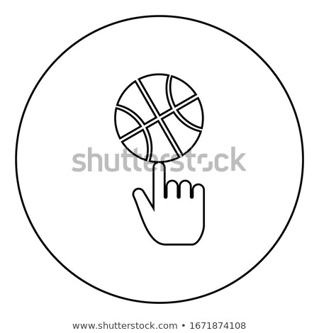 Stock photo: Index Finger Flat Black Color Rounded Vector Icon