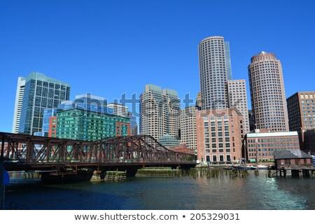 Boston · gratte-ciel · centre-ville · urbaine · eau · crépuscule - photo stock © capturelight