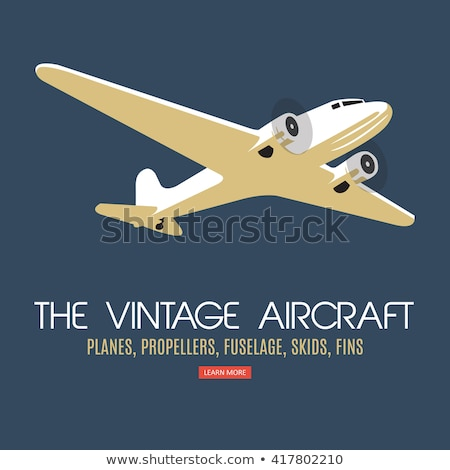 A vintage plane with a pilot Stock photo © bluering