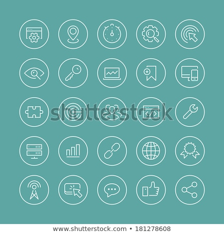 тонкий линия иконки пользователь технологий музыку Сток-фото © ildogesto