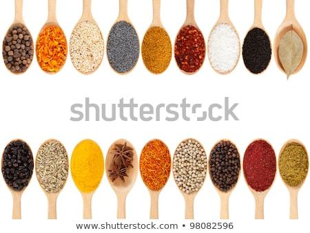 fakanál · fekete · fűszer · barna · gurmé · hozzávaló - stock fotó © digifoodstock