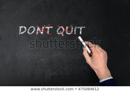never give up text on school board stock photo © fuzzbones0