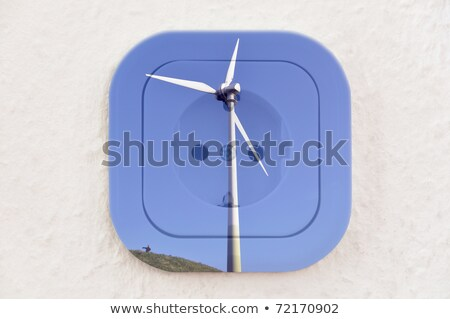 Сток-фото: Conceptual Wind Turbine Over Power Outlet With Path