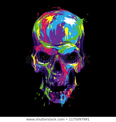 Colorful skulls Stock photo © bluering