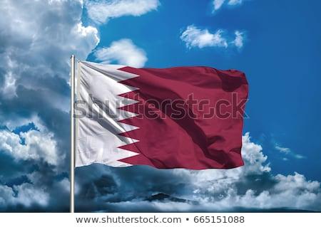 Катар · Хорватия · флаг · стоять · баннер · дизайна - Сток-фото © doomko
