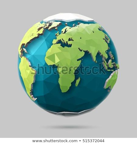 Aarde illustratie laag stijl wereldbol icon Stockfoto © Said