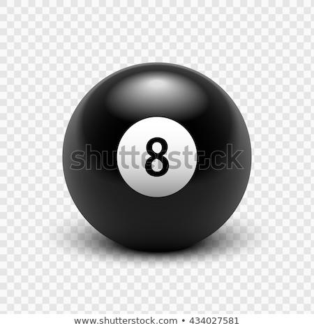 Nyolc golyók biliárd medence kép rövid Stock fotó © jordanrusev