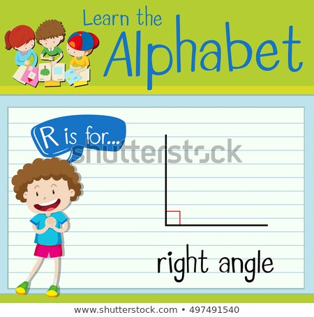 Flashcard letter R is for right Stock photo © bluering