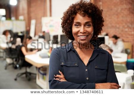 Black businesswoman portrait Stock photo © szefei