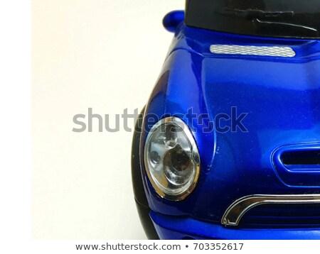 Azul branco pára-brisas listrado algodão areia Foto stock © Hofmeester