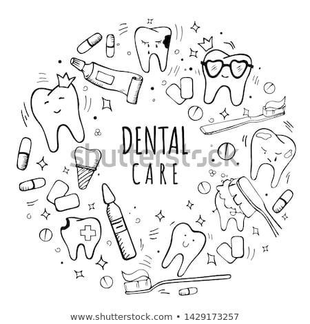 Tooth decay sketch icon. Stock photo © RAStudio