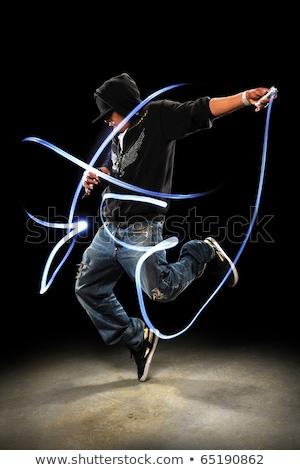 Człowiek stwarzające oświetlenie sprzęt oświetleniowy świetle osoby Zdjęcia stock © stevanovicigor