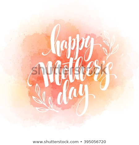 Stock photo: Happy Mothers day Typographical Background. EPS 10