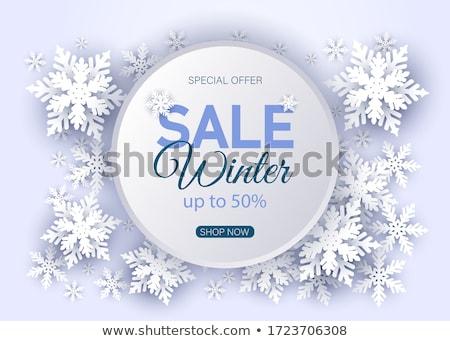 Winter Sale Signboard Stock photo © timurock