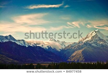 Panoramic view of the mountain landscape in winter Stock photo © Kotenko