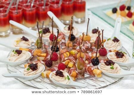Salami voedsel wijn drinken kaas alcohol Stockfoto © M-studio