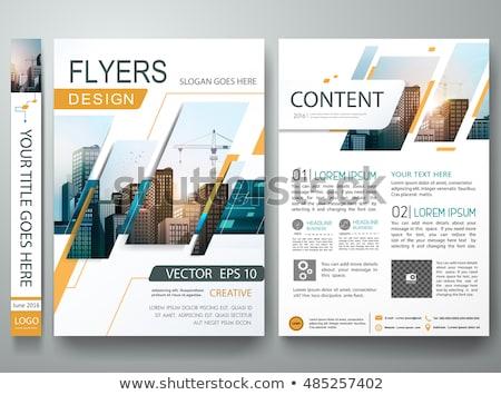 оранжевый журнала охватывать плакат шаблон бизнеса Сток-фото © SArts