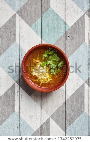Diep aardewerk schotel bruin lege kom Stockfoto © Digifoodstock