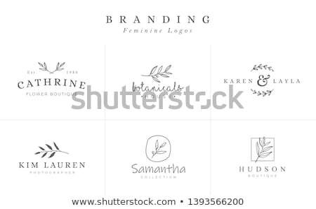 flower logo design template stock photo © SArts