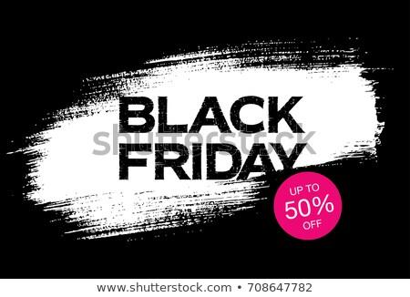 black friday background with white paint stroke Stock photo © SArts
