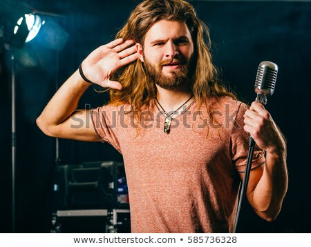 Cantante ascolto folla foto rock rotolare Foto d'archivio © sumners
